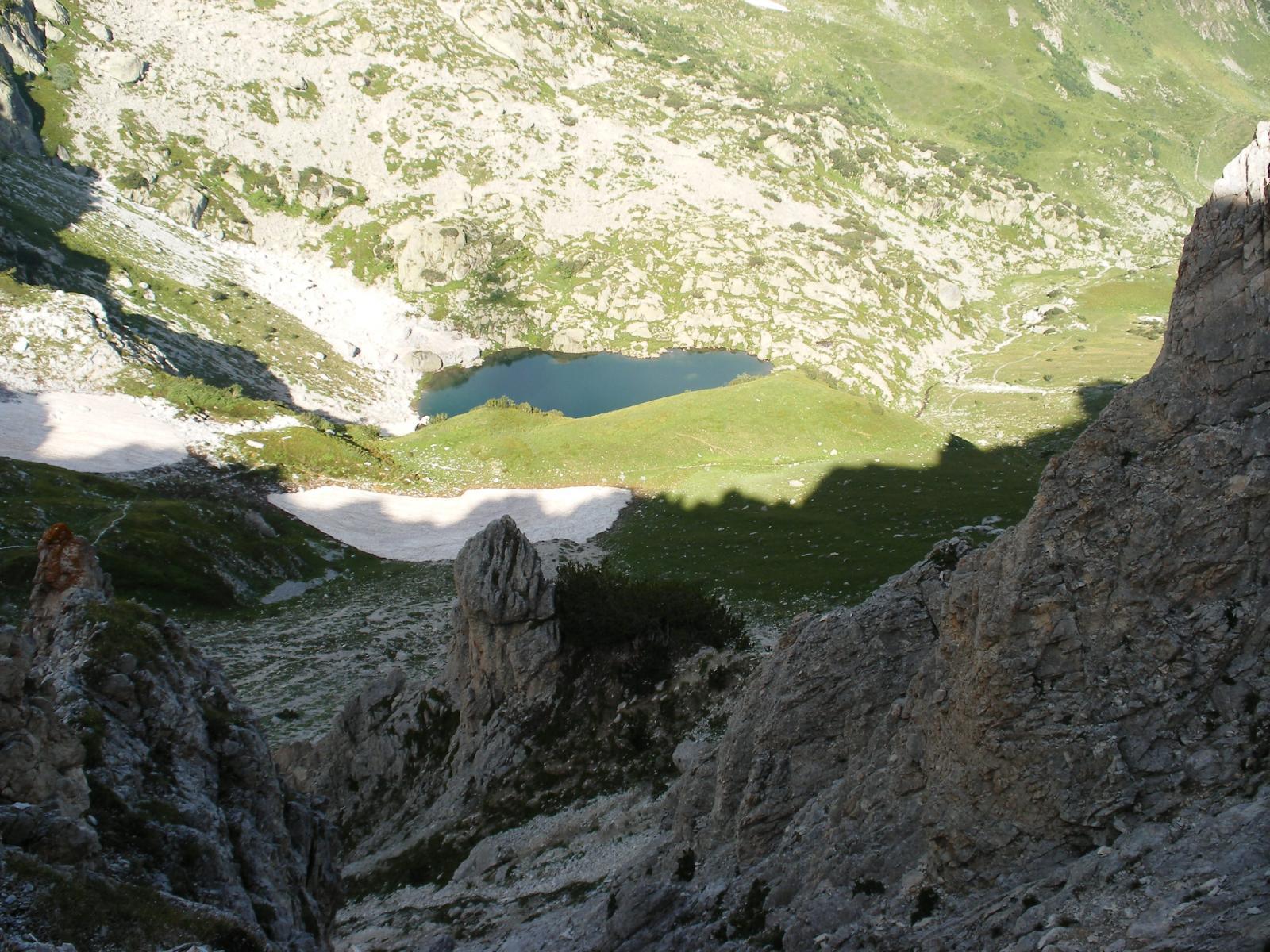 il lago Alberg dal Passo Ciotto Mieu
