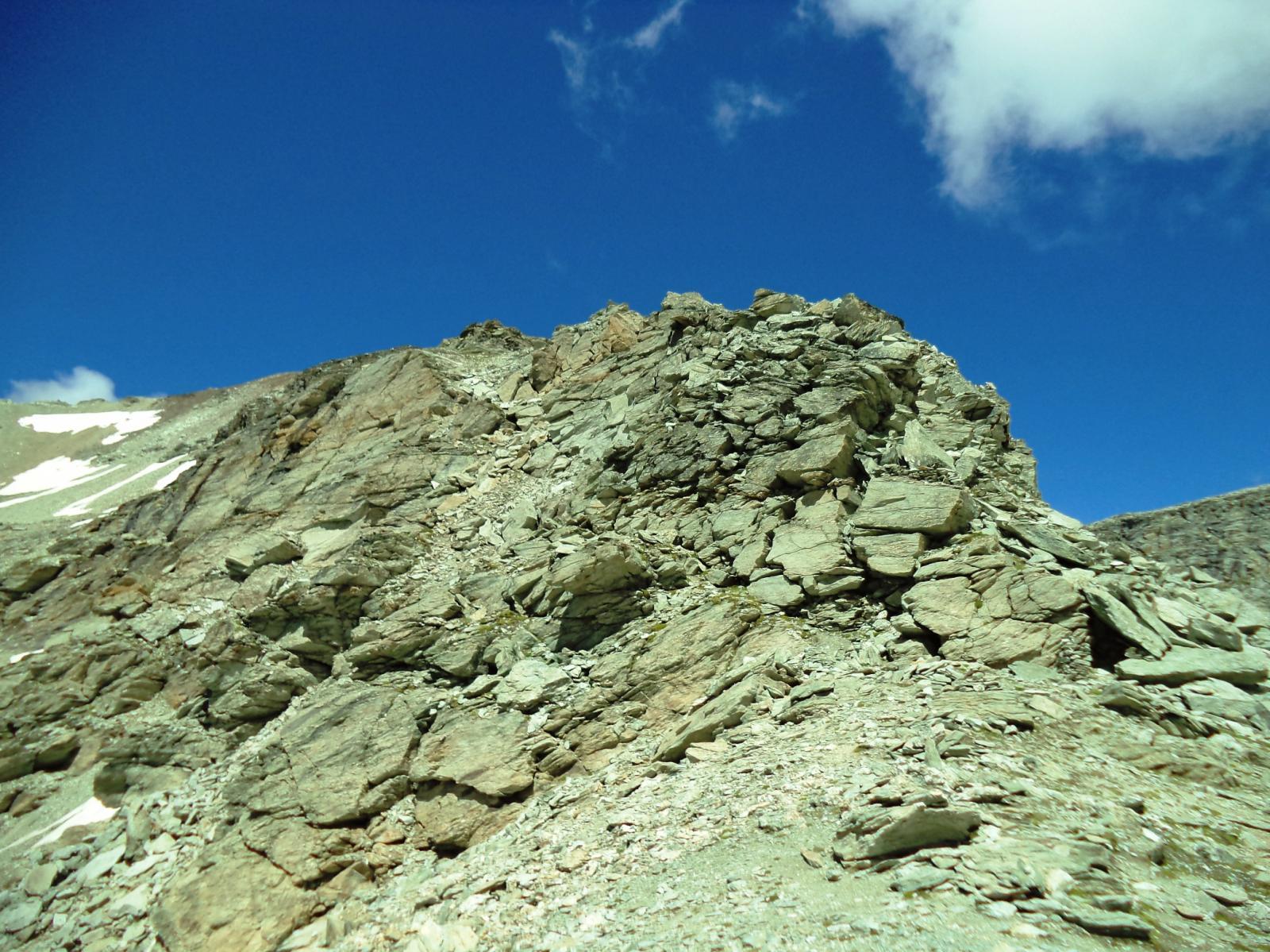 primo tratto di cresta per la rocca
