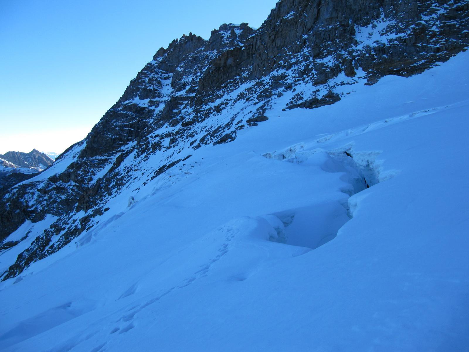 parte alta del ghiacciaio