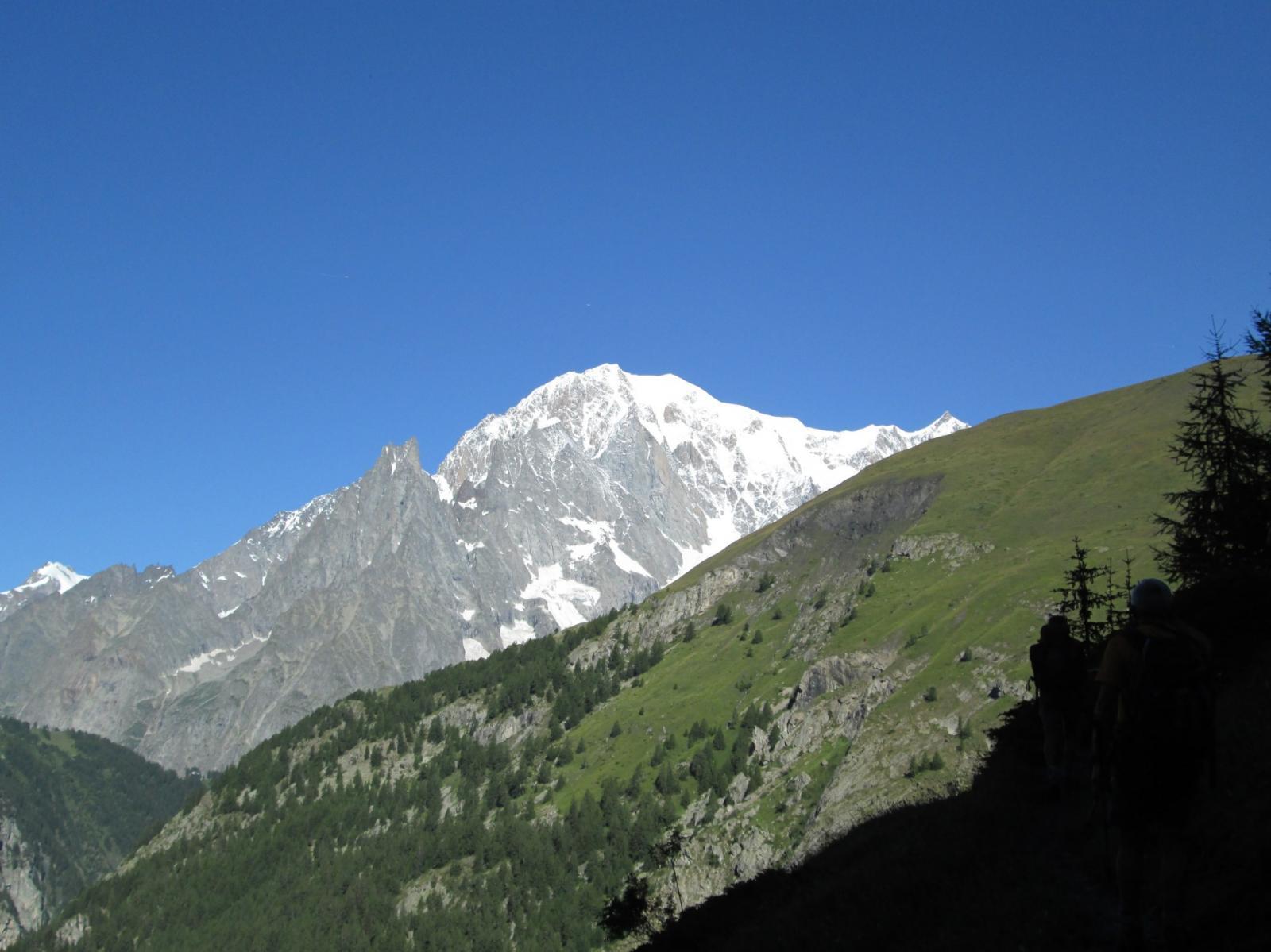 Monte Bianco ripreso in salita