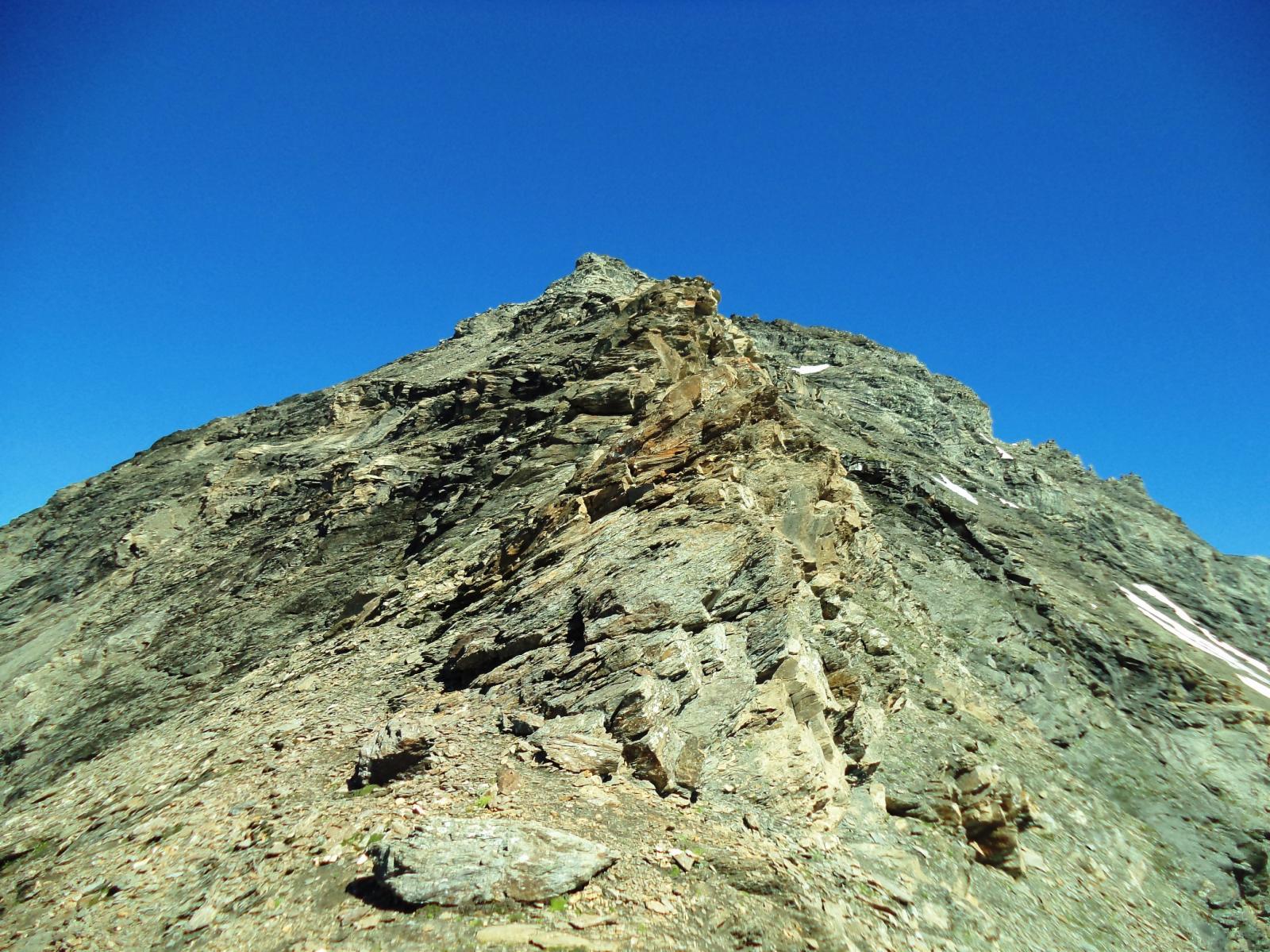 la parte più alpinistica della cresta