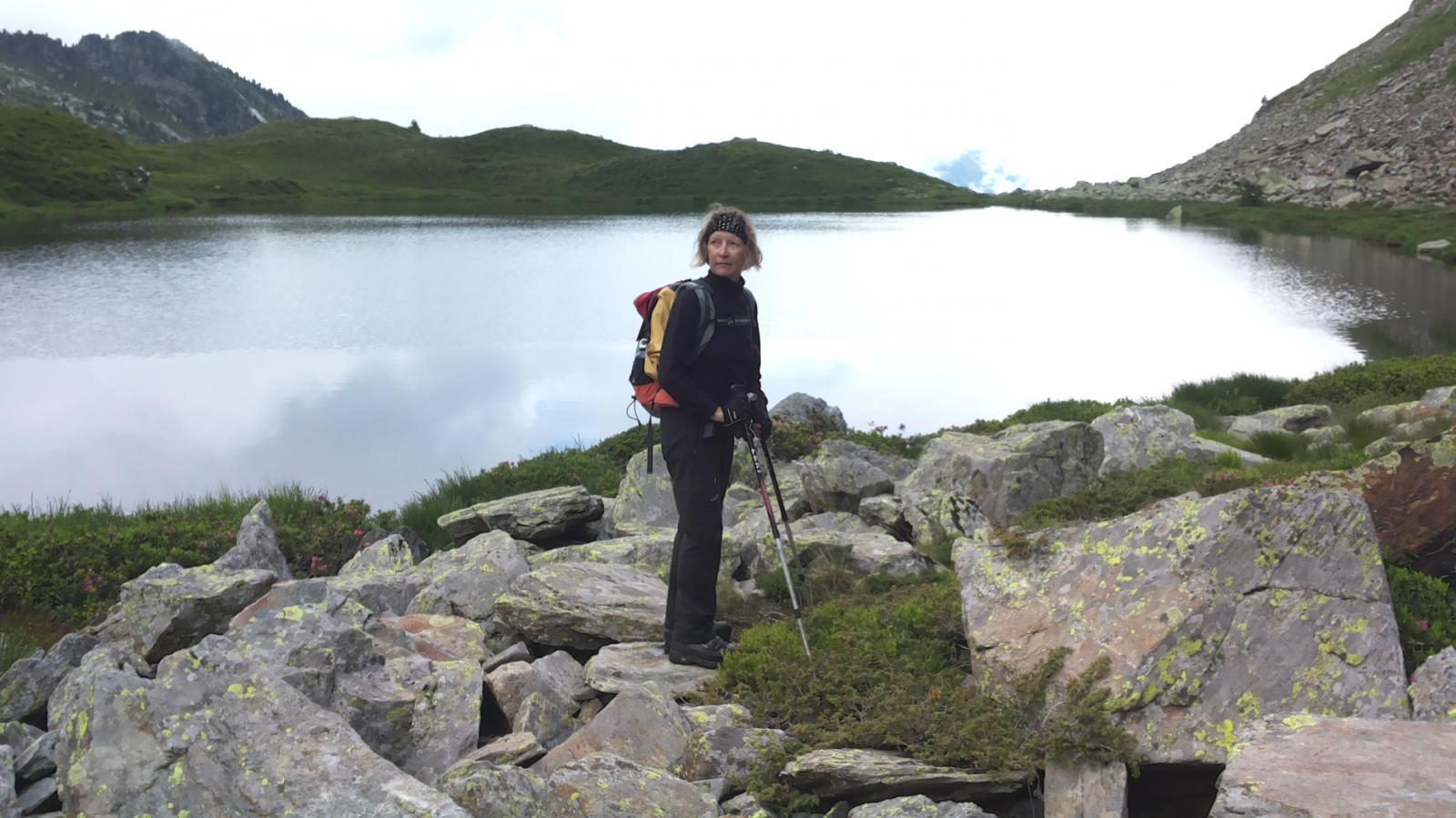 Germana sulla sponda del laghetto superiore