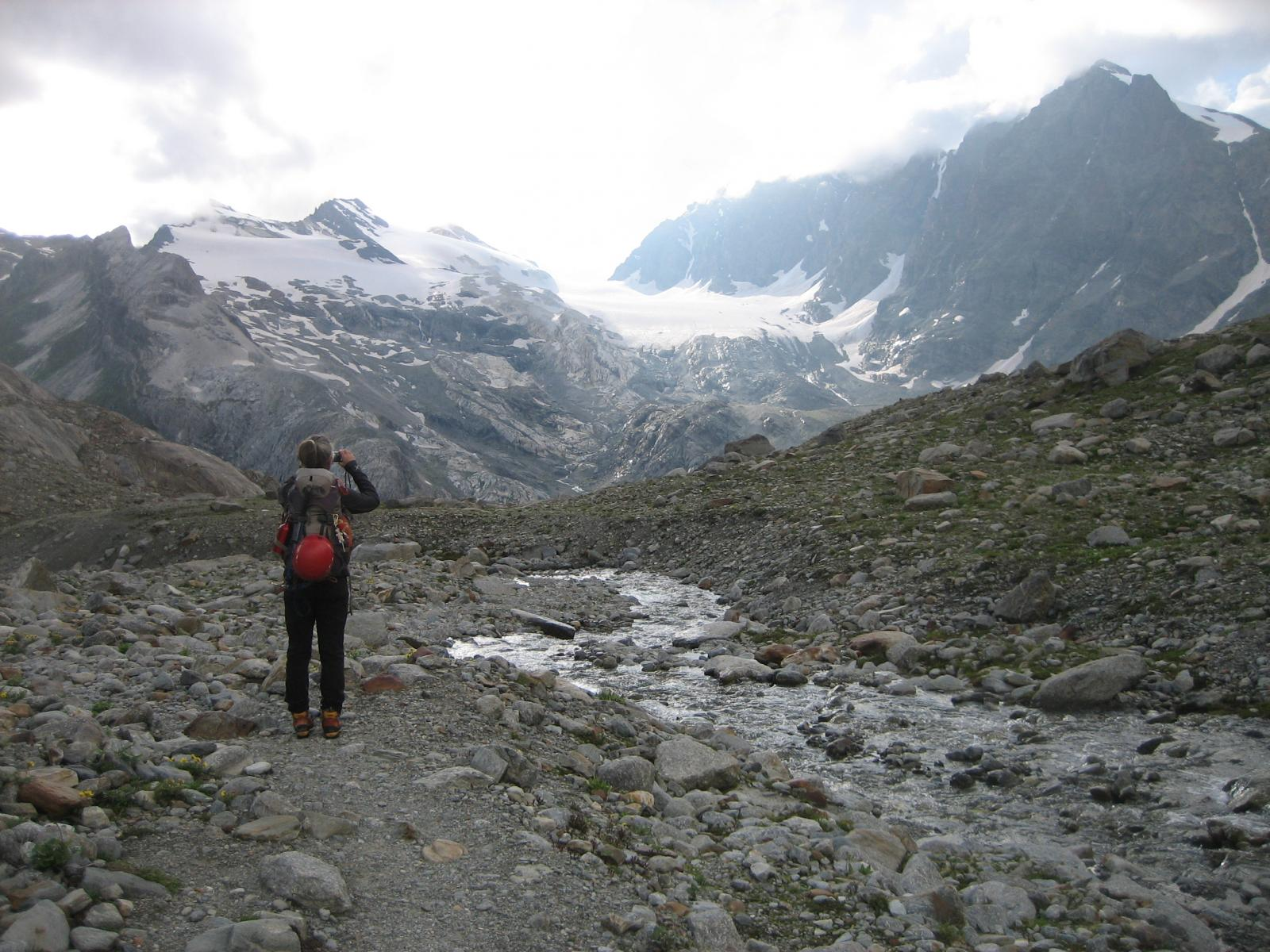 Ultimi sguardi sui ghiacciai del Bernina.