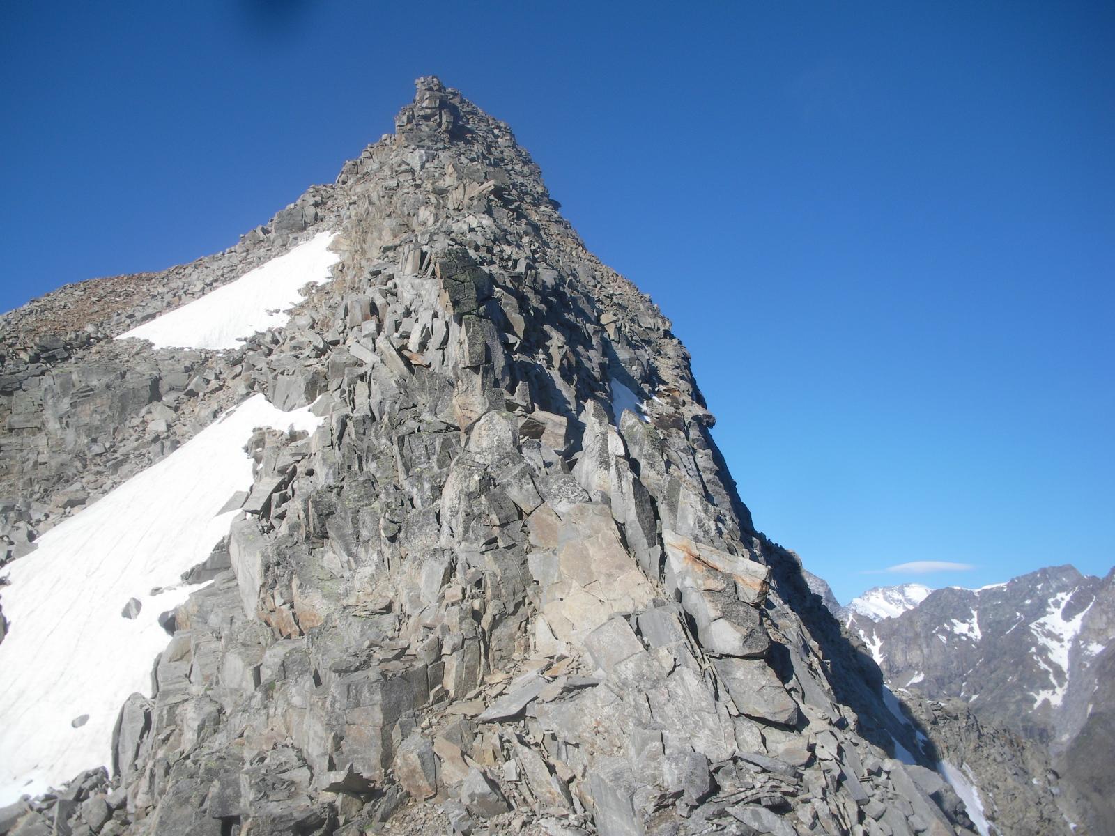 La Punta di Forzo..dai pressi del Col de Murailles Rouge..