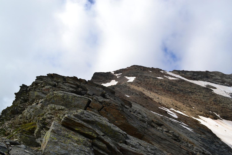 il Pizzo Cingino Nord visto dal Passo di Saas