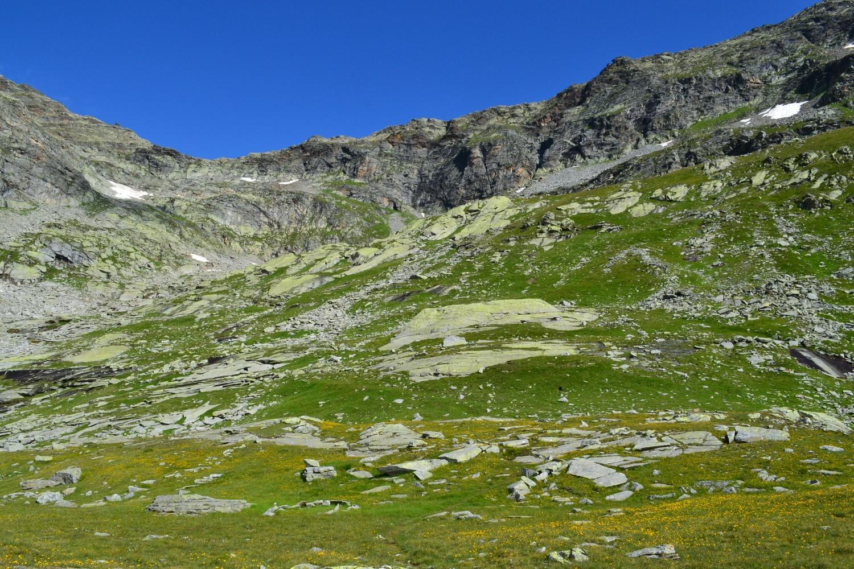 il Passo di Saas visto dall'Alpe Corone (2463 m)