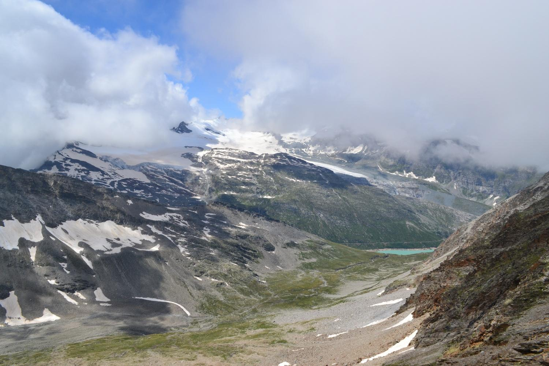 panorama verso Mischabel e Lago Mattmark