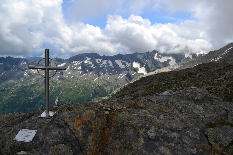 croce in ferro al Passo di Saas