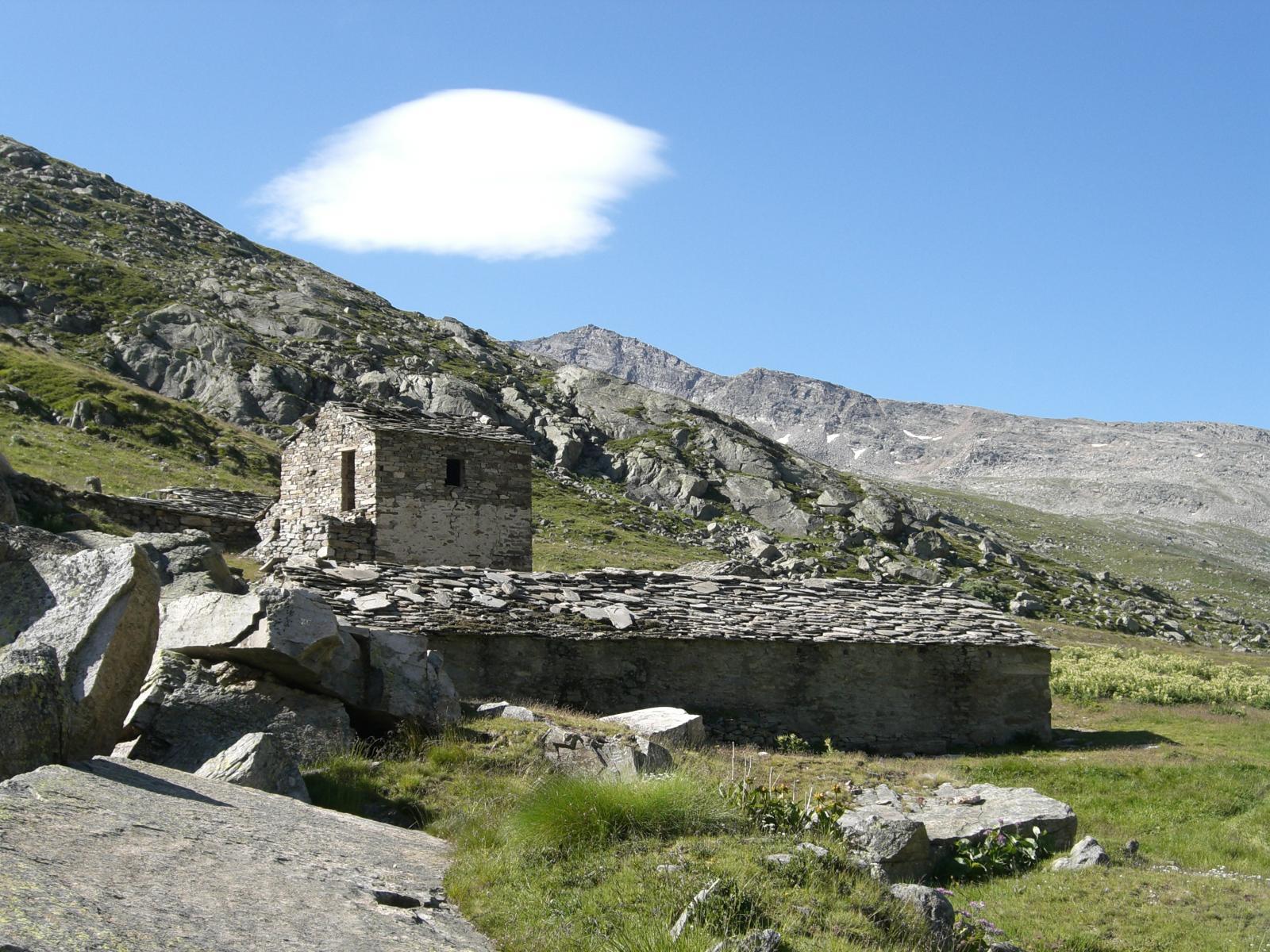 Gianzanaz (Monte) o Giansana e Cima dell'Arolley dal Colle del Nivolet 2014-08-04