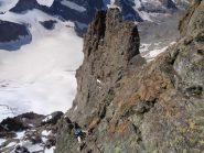 tratto di arrampicata sulla parete sud