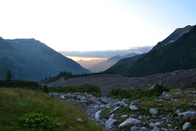 prime luci all'Alpe Fillar