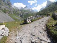 Il sentiero dopo il rifugio les Barmettes