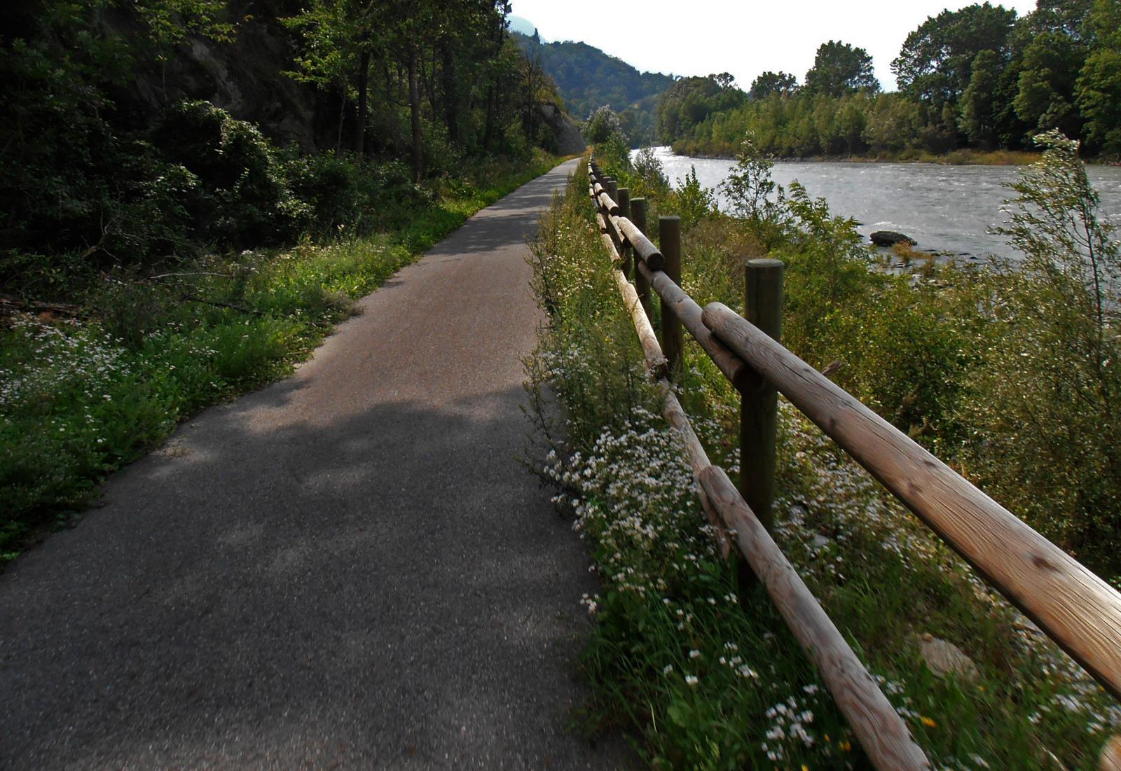Ciclabile della dora, Pontey - Sarre 2014-08-09