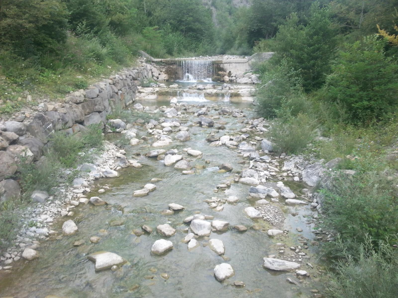 Partenza dal torrente Avagnone
