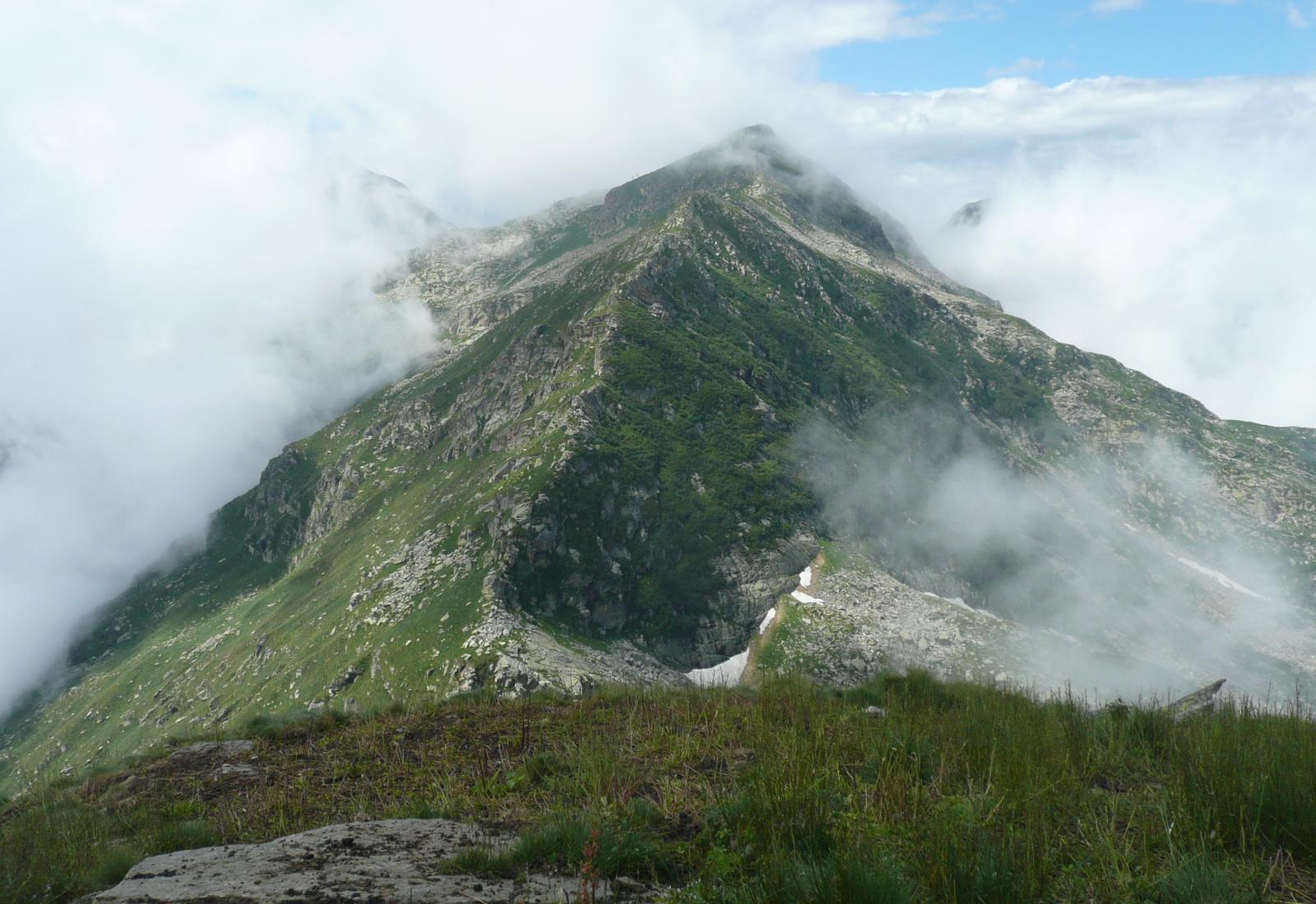 la Bocchetta di Finestra e la Cresta est del Camino