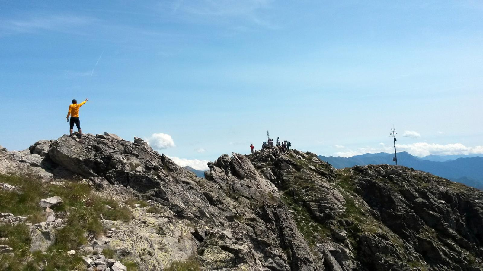 La vetta della Rocca dell'Abisso 2755 m.