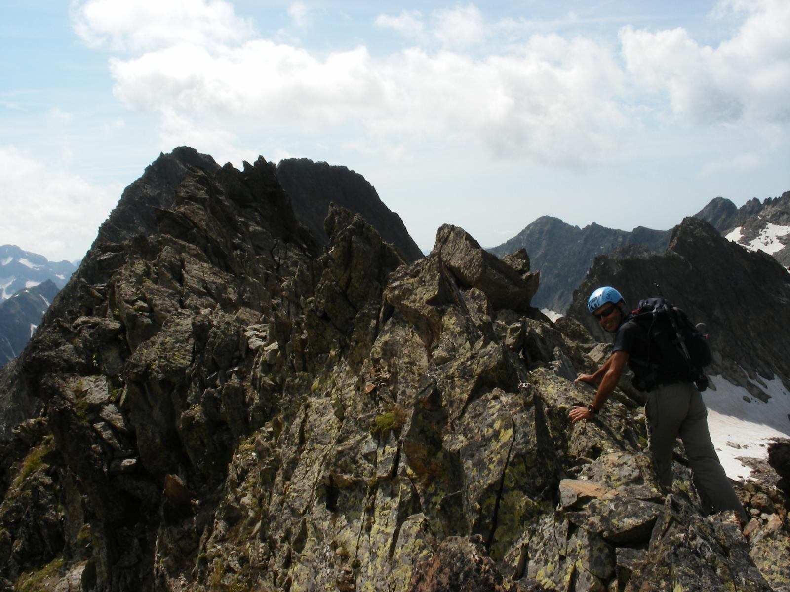 La cresta della Cima Forchetta