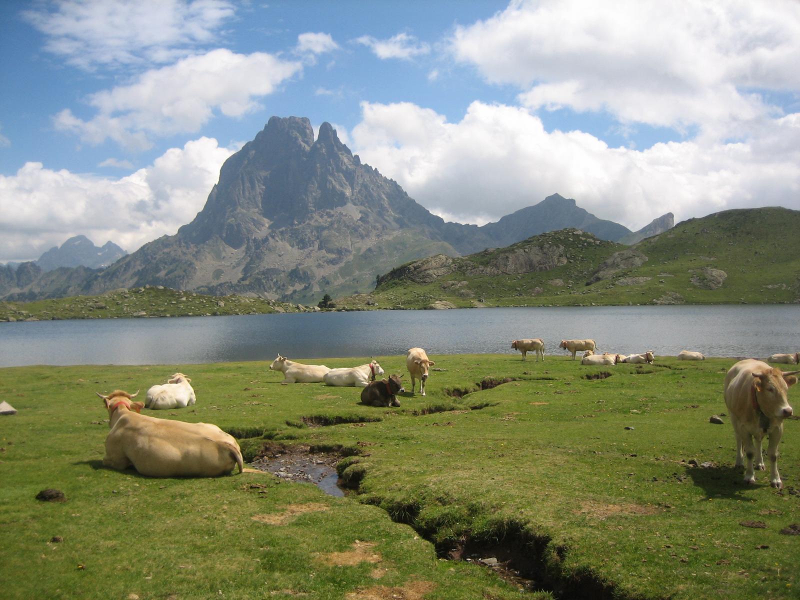 Lago Gentau e Pic d'Ossau