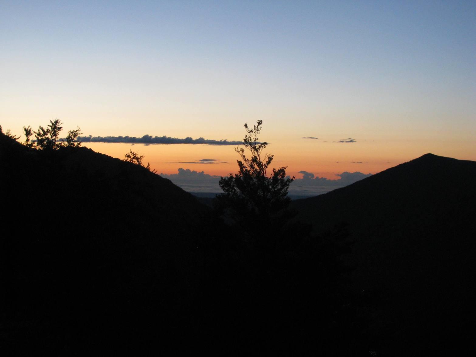 Partenza all'alba da Carello