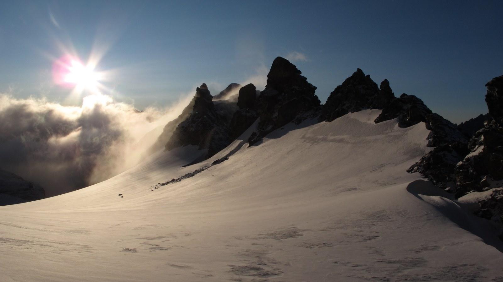 Si scende sul ghiacciaio