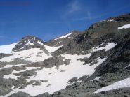 Nevai salendo verso il Passo del Collerin.