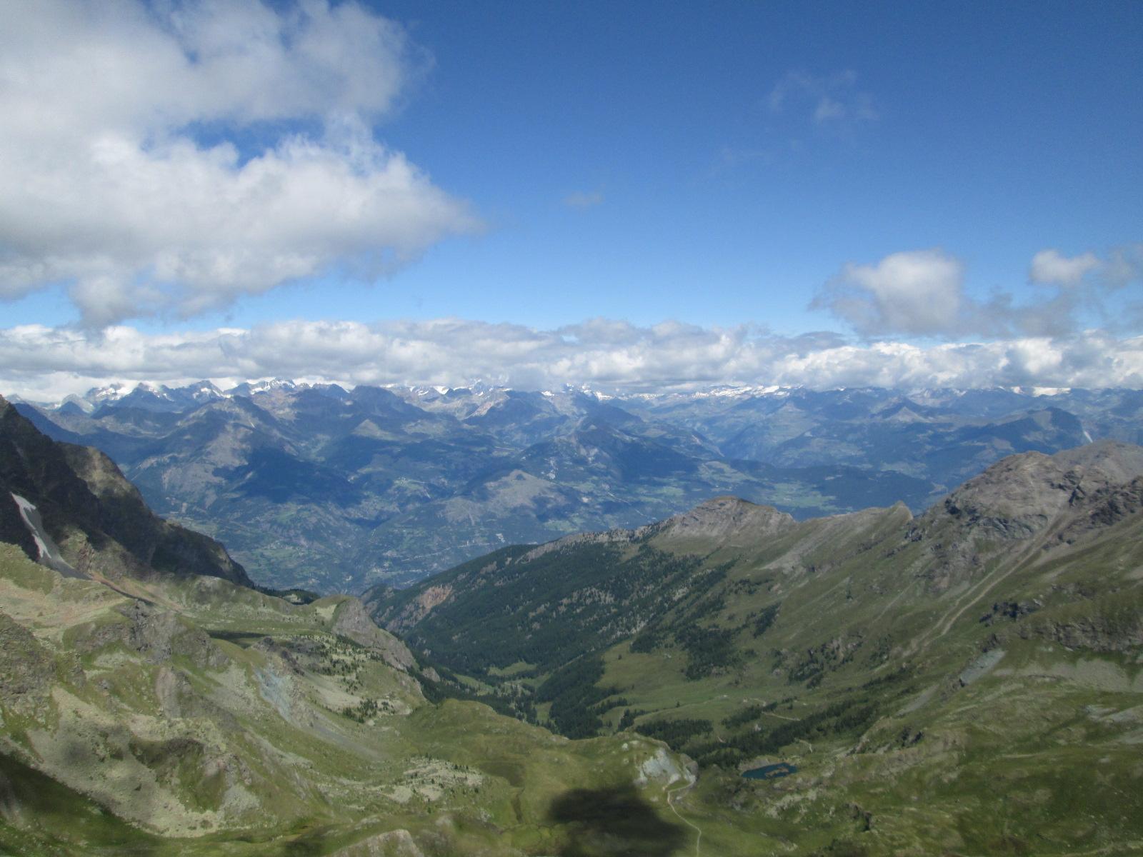 veduta verso la conca di Aosta