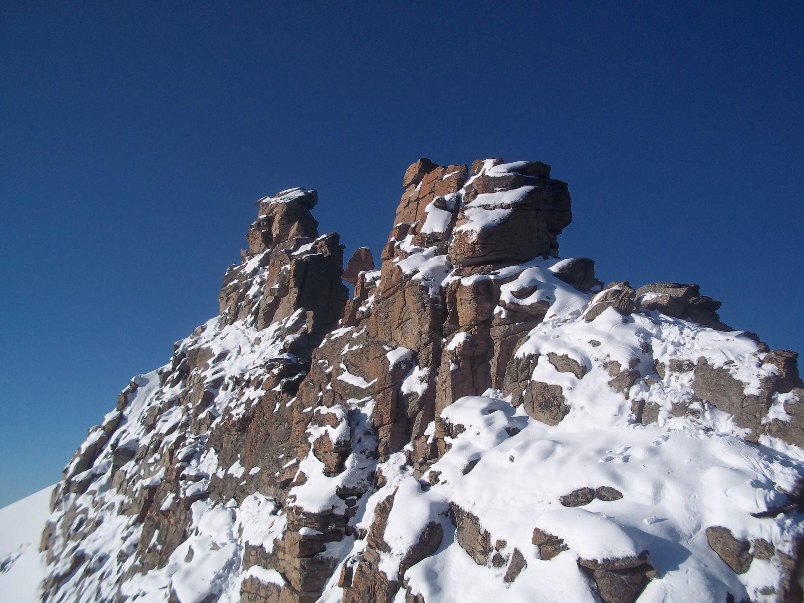 la parte mediana di roccia