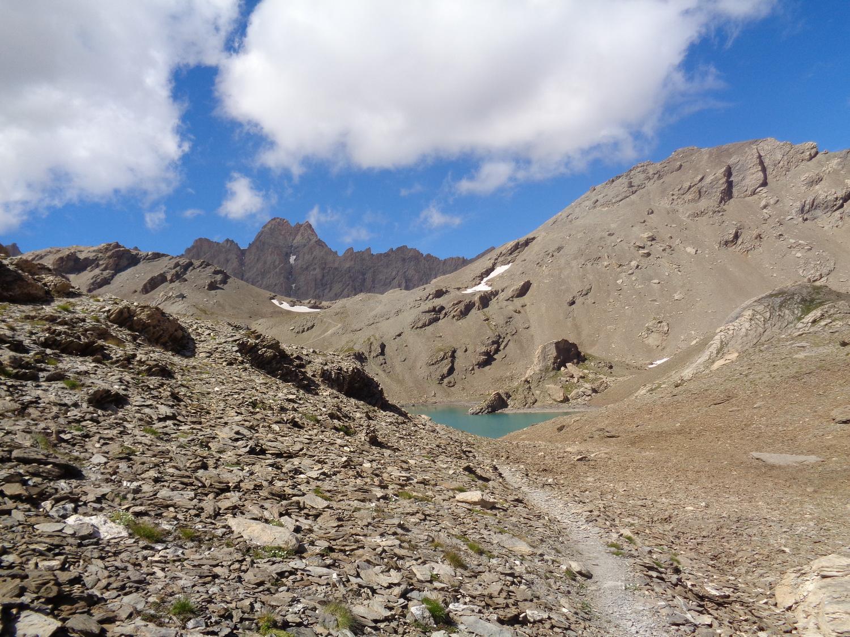 lago del Vallonasso di Stroppia e Aiguille de Chambeyron