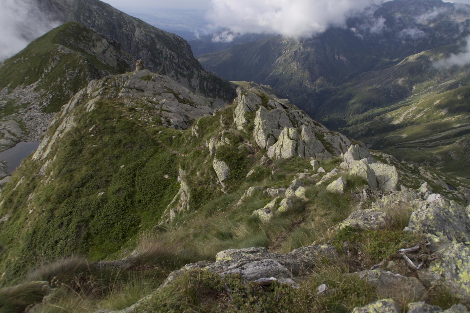 Il Sentiero percorso dal Colle del Rosso.