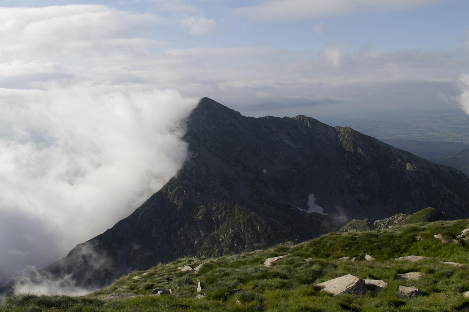 Il Monte Mucrone visto dalla vetta.