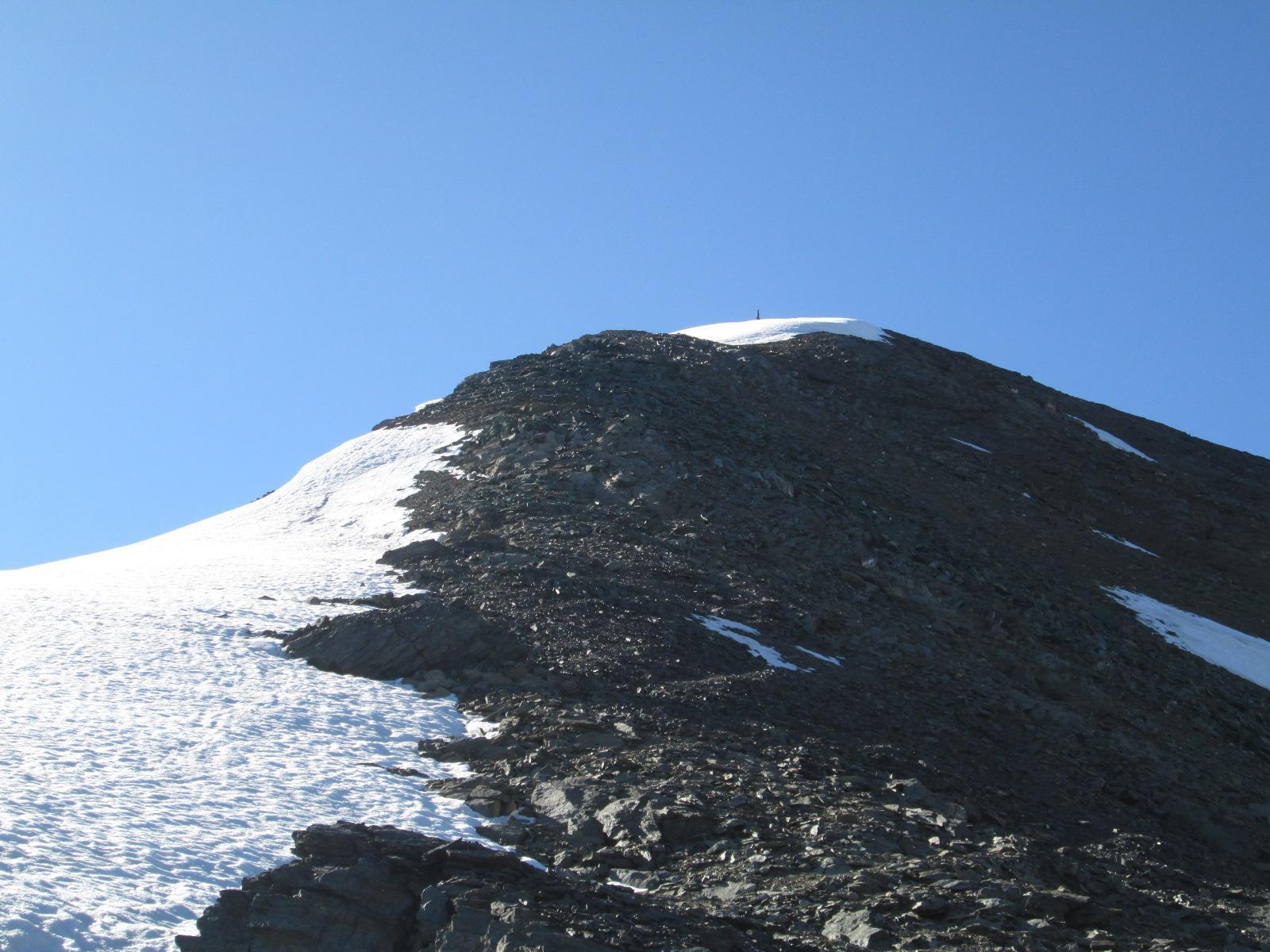 la cresta finale vista dal colletto