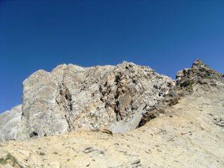 il profilo della cresta dal sentiero di avvicinamento