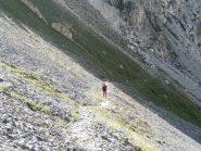 il Pastore errante sul bel sentiero di avvicinamento