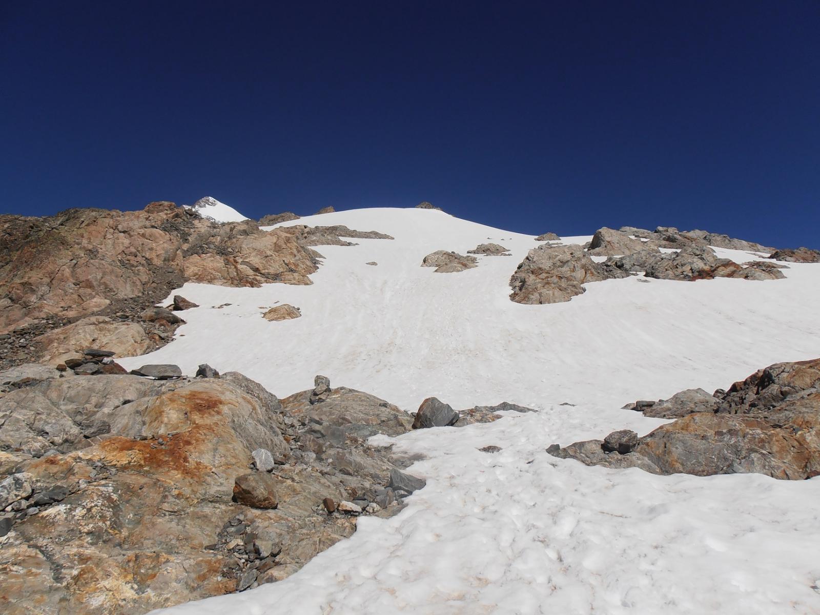 08 - inizio ghiacciaio dal bivacco, tutta neve, no ghiaccio