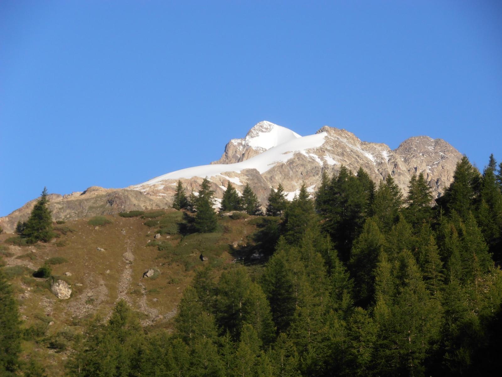 03 - Aguille de Trelatete, P.Mont Blanc e pendio innevato da risalire