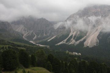 Vista del Rifugio dal Col Raiser