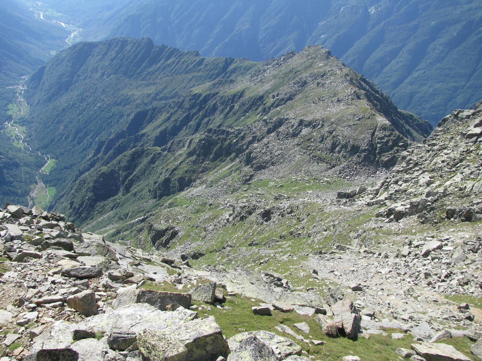 Vista dall'alto del vallone Langiasser