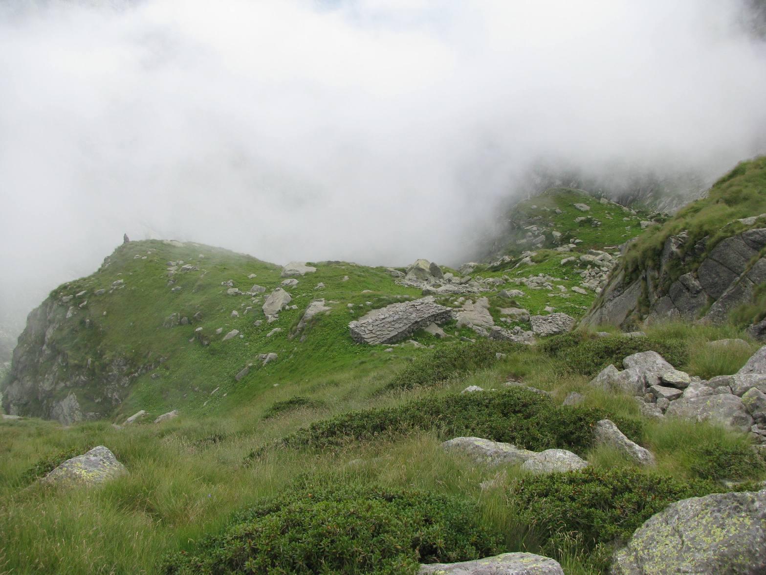 Innocua nuvolaglia in discesa all'Alpe Fumà di sopra