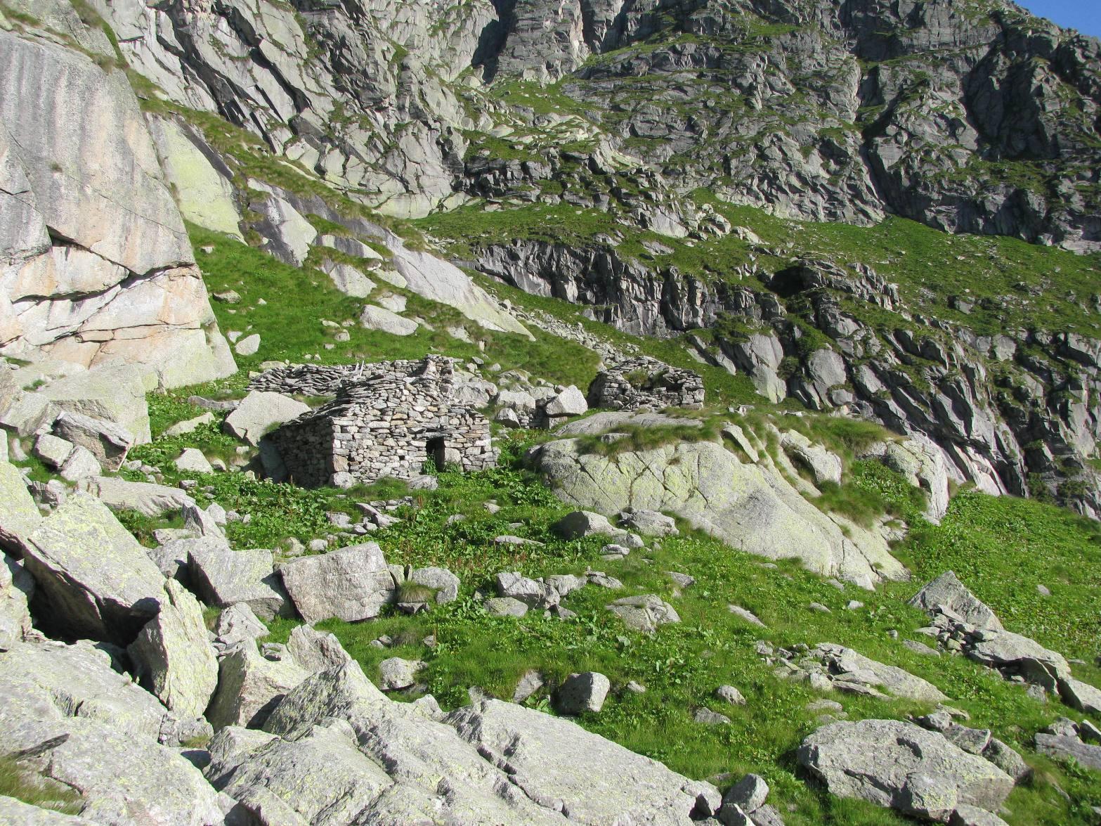 Arrivo all'Alpe Fumà di sopra