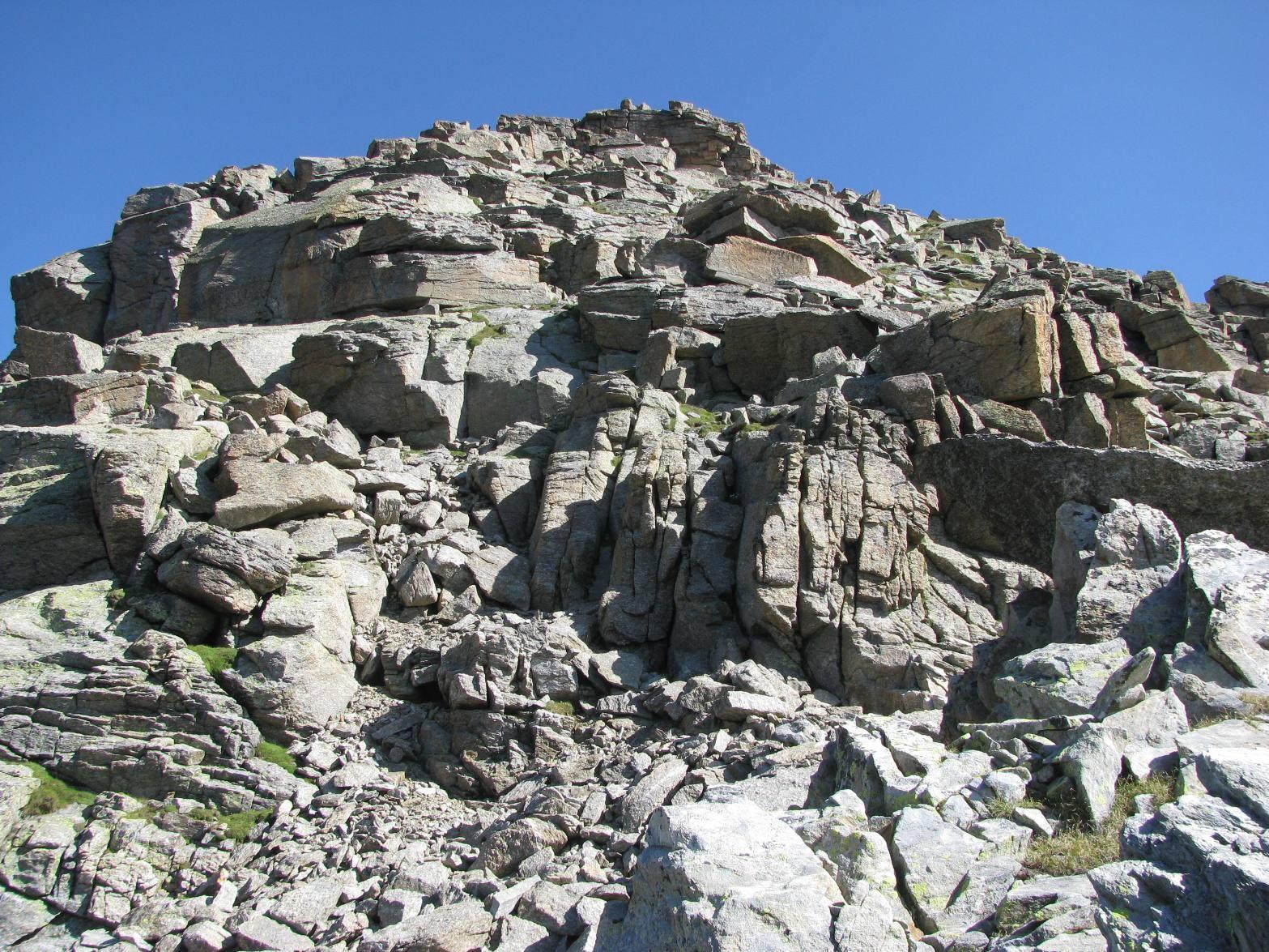 La cima del Gran Carro, dal colletto sottostante
