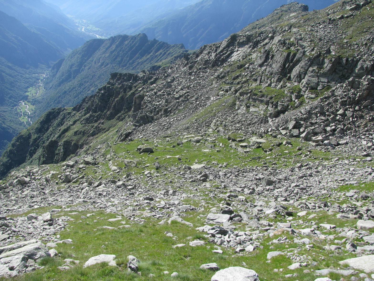 Il falsopiano superiore dell'Alpe Fumà di sopra