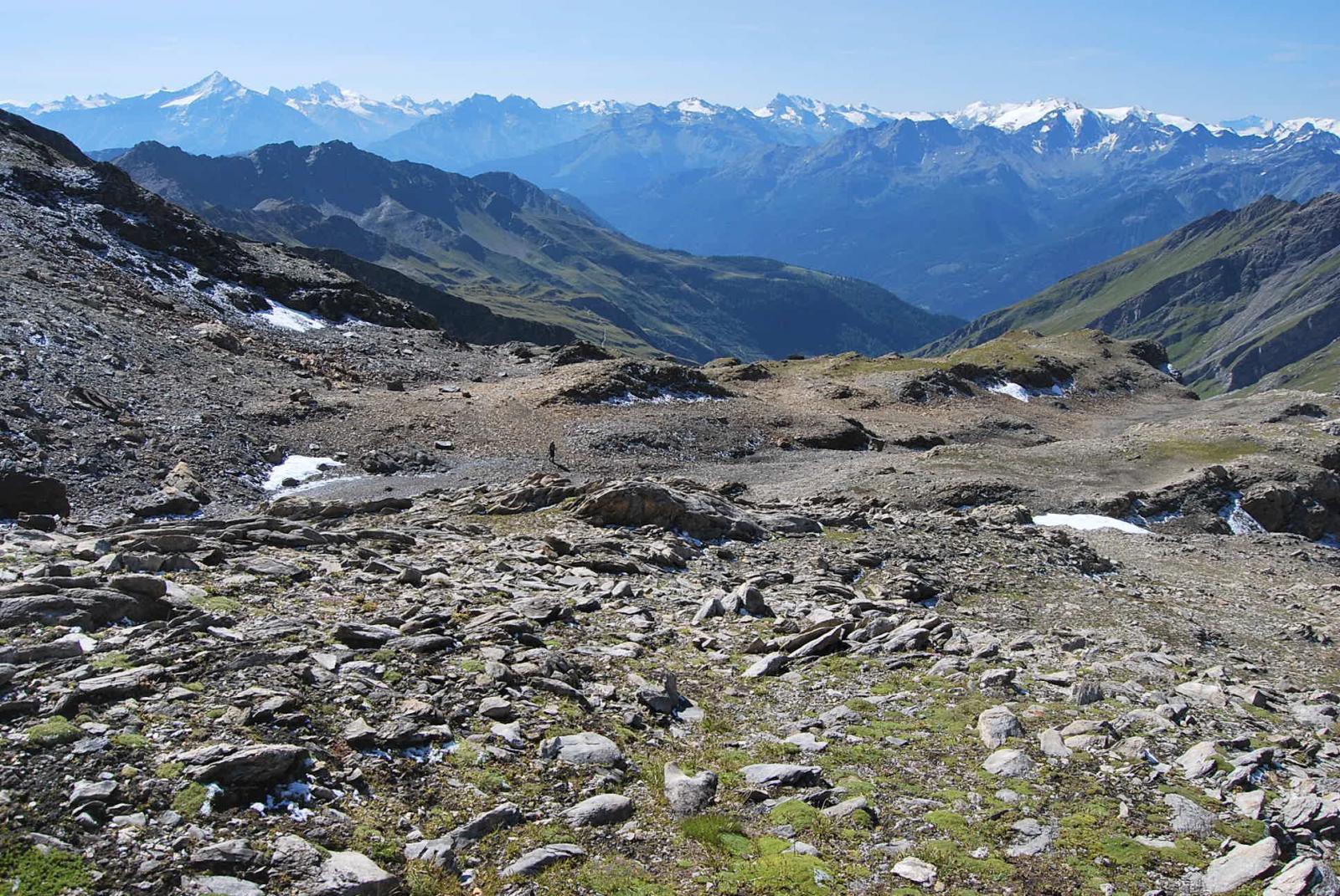 Il vallone di salita visto dall'alto