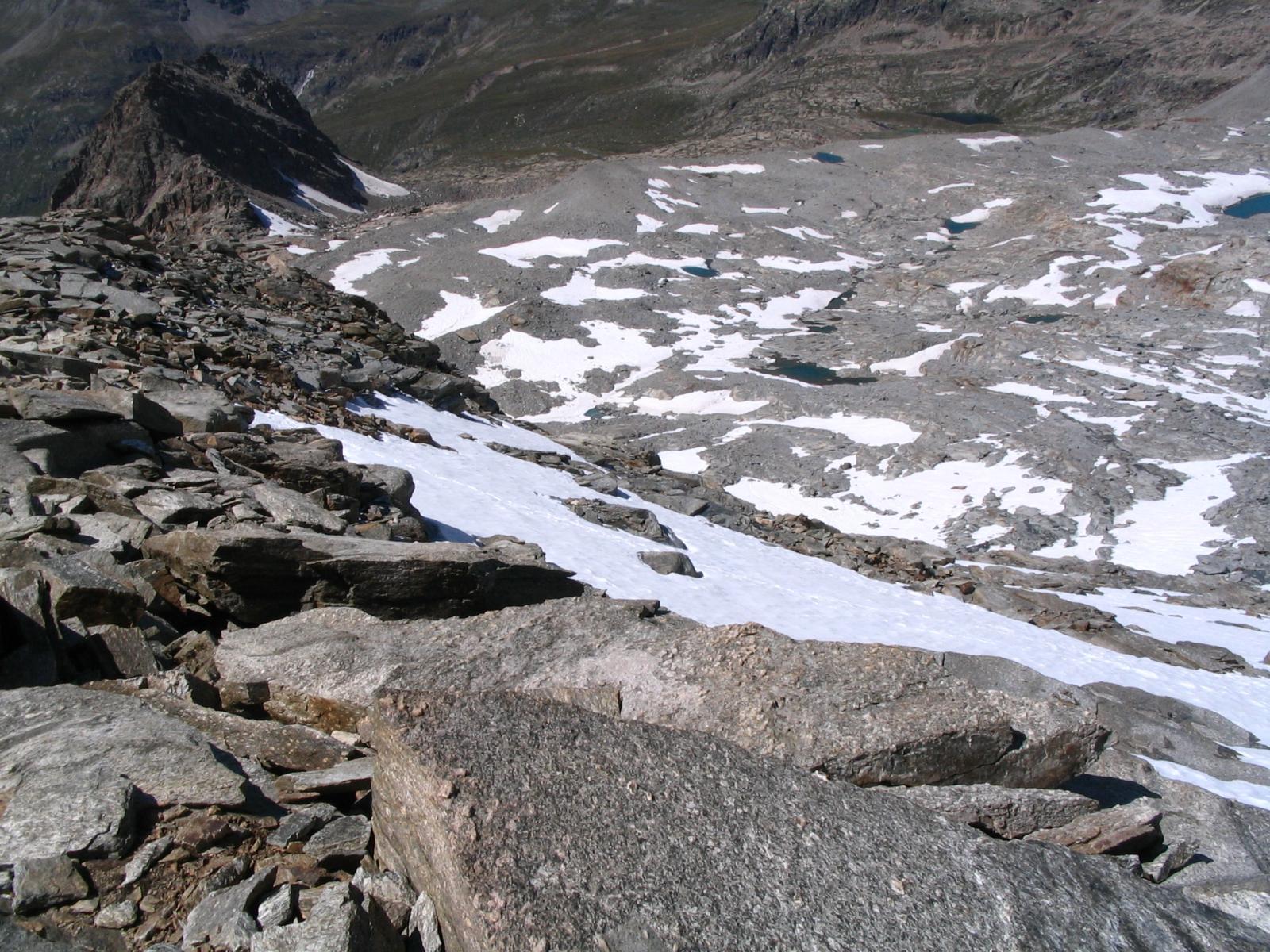 Le nostre tacce sulla neve: peccato non arrivasse fino in cima !