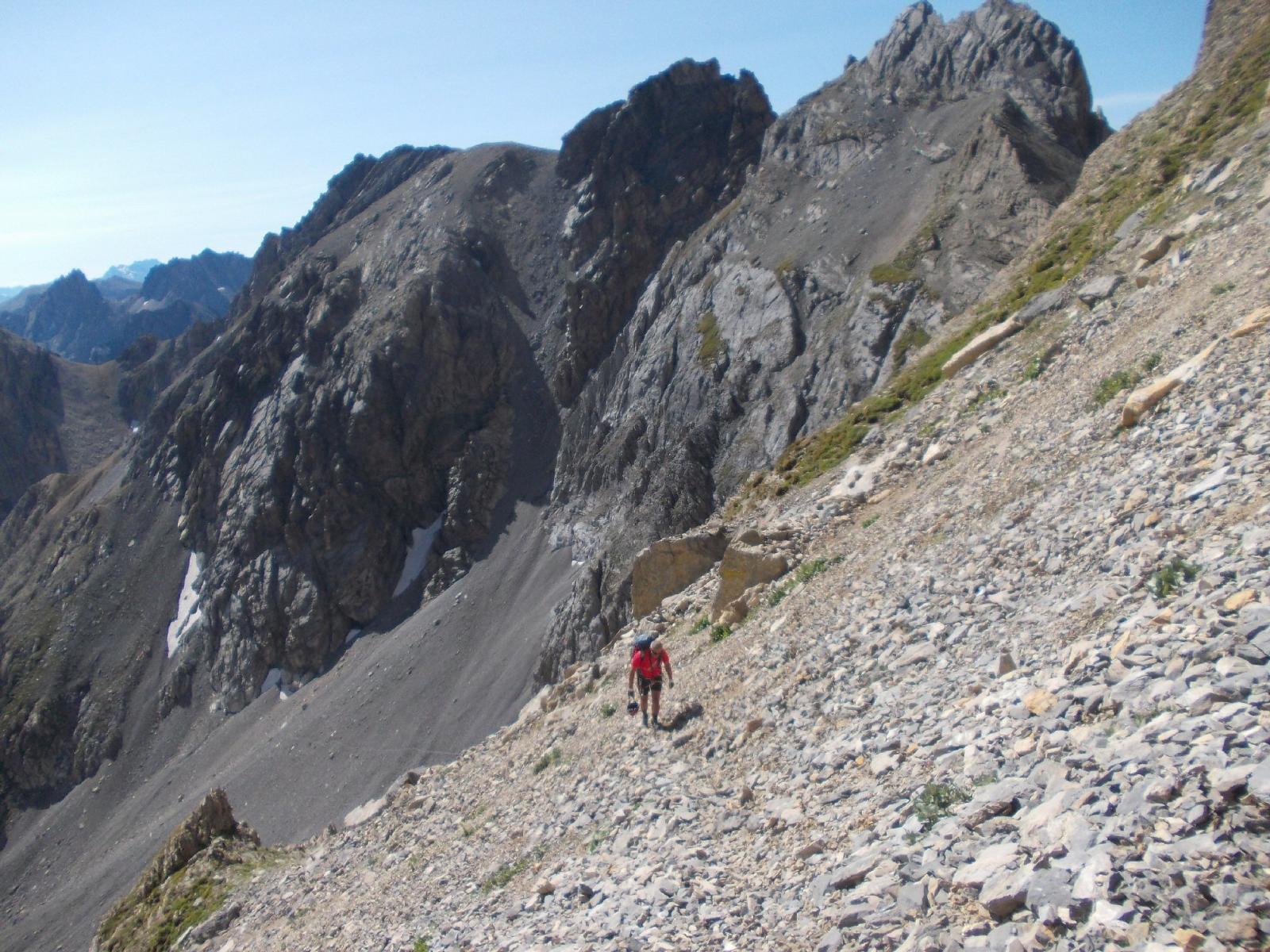il lungo avvicinamento nei ghiaioni