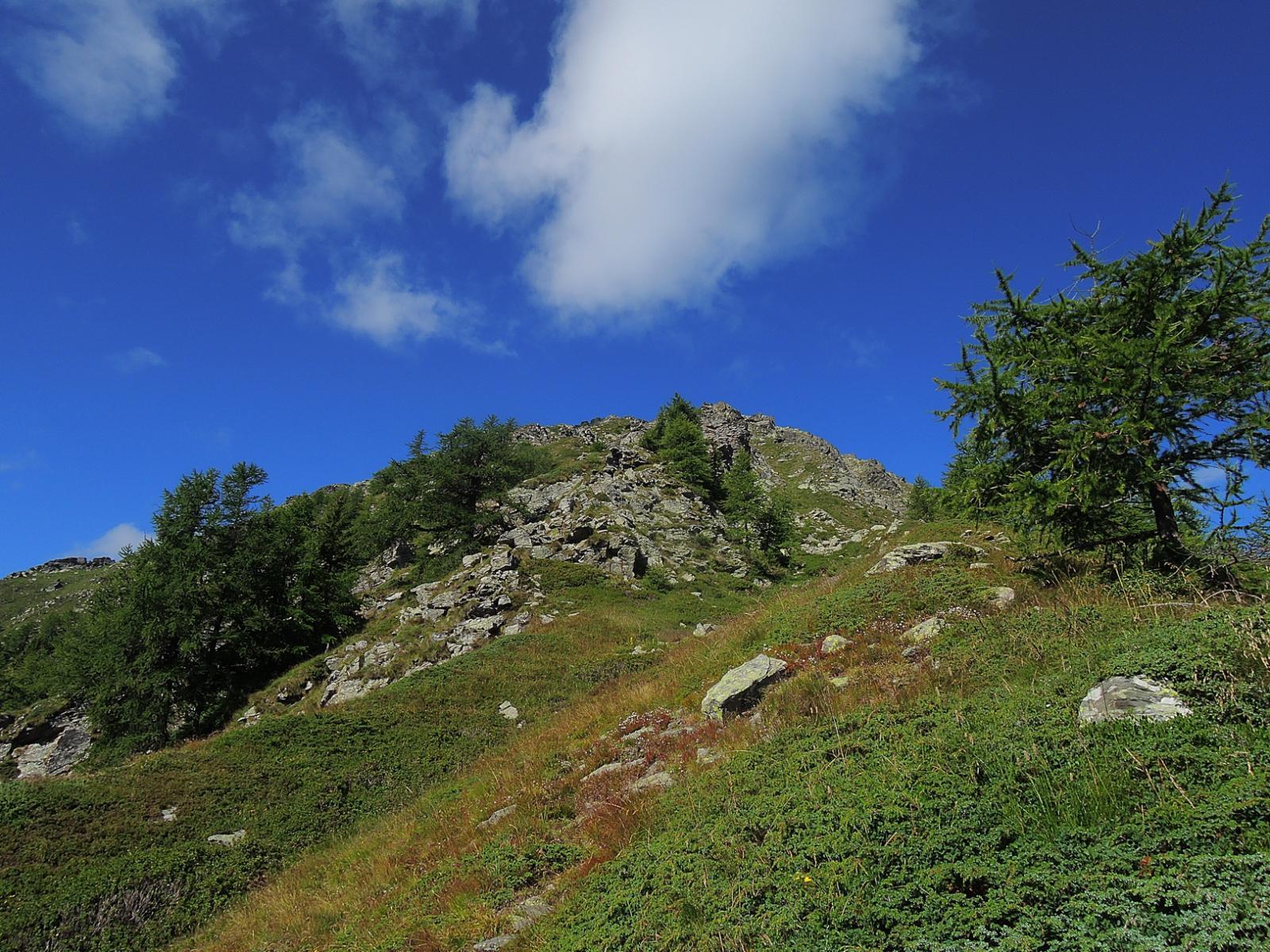 Inizio della cresta Est da S. Antonius