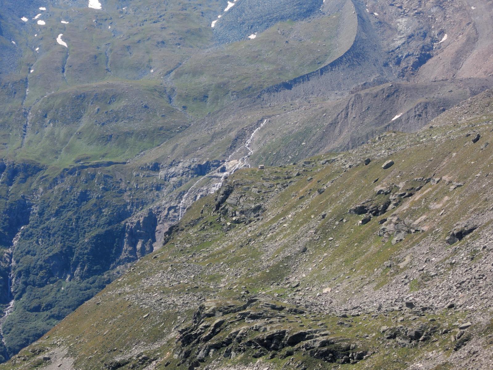 Lagginbiwak visto dalla cima