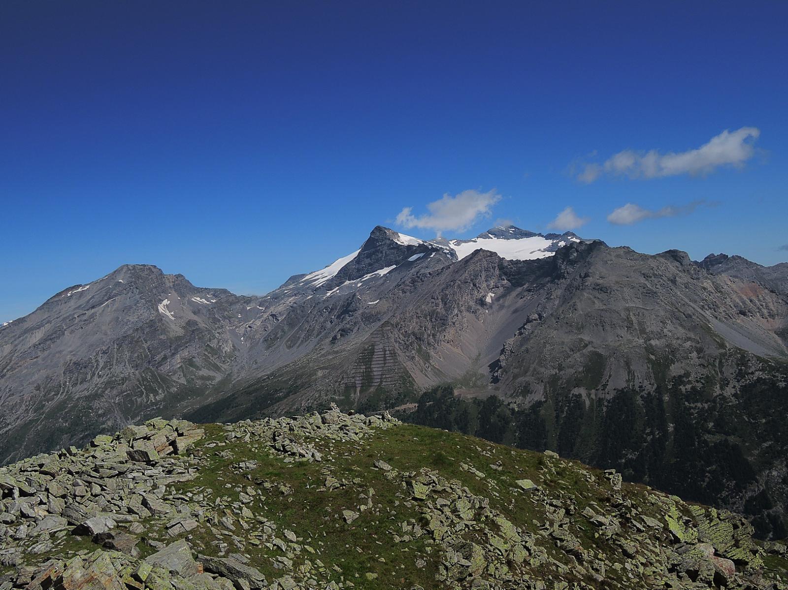 Hübschhorn, Breithorn e Leone visti dalla cima