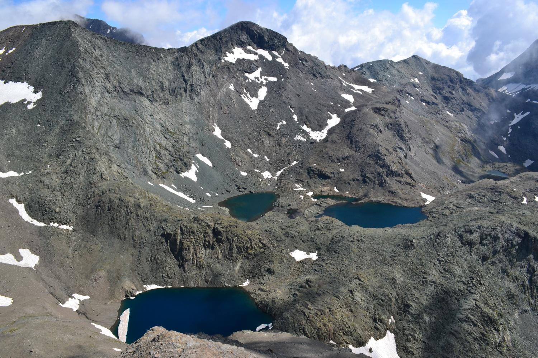 Laghi dell'Autaret visti dalla cima