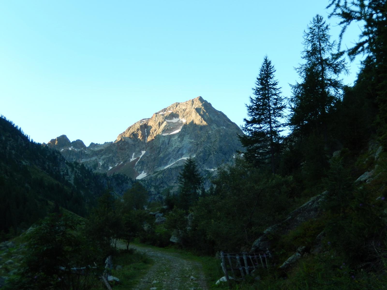 Il monte Malinvern alla partenza