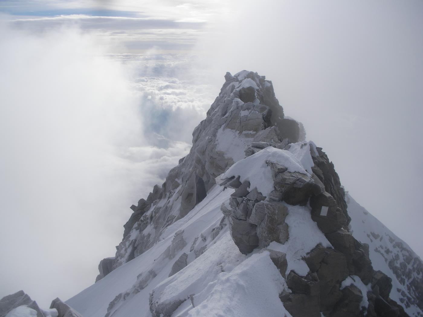 Dufour (Punta) o Dufourspitze dalla Silbersattel per il versante Nord 2014-08-25